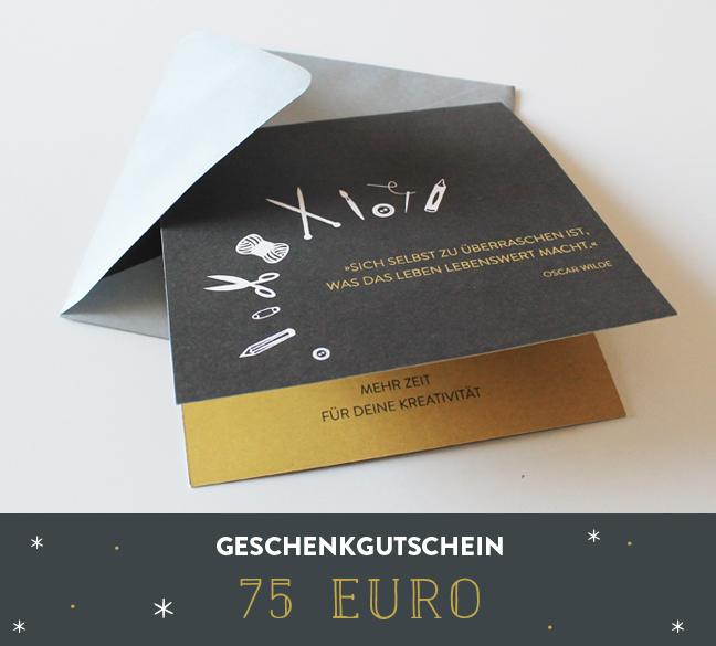 Geschenkgutschein 75 Euro