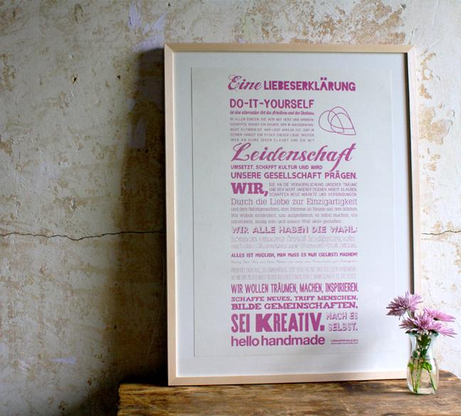 Handmade Liebeserklärung - Pink
